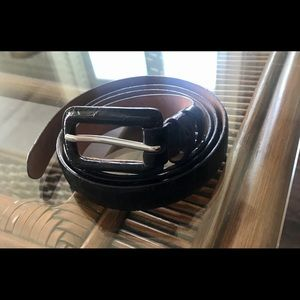 Talbots Brown Leather Belt Large 3/4 inches wide
